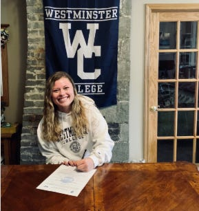 Lakeview volleyball standout Claire Tobin has committed to play volleyball at Westminster College.