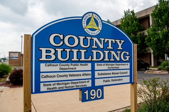 Calhoun County services are located at 190 E Michigan Ave., pictured on Wednesday, June 10, 2020, in Battle Creek, Mich. The County Clerk's office is located in Marshall at 315 W. Green St.