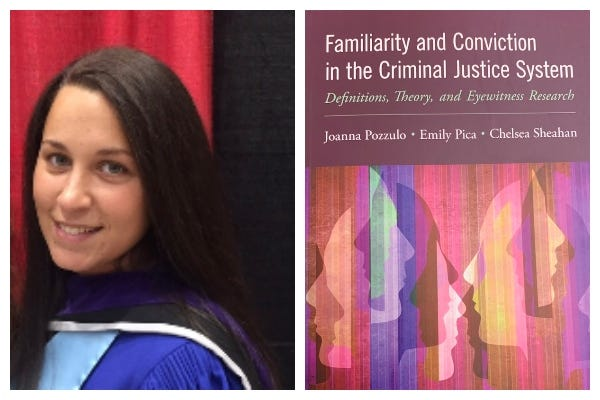 """Dr. Emily Pica, Austin Peay State University assistant professor of psychology, and her book """"Familiarity and Conviction in the Criminal Justice System."""""""
