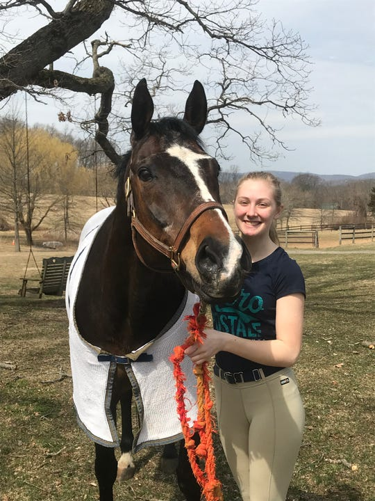Hunterdon County Polytech Career and Technical High School Animal Science student Victorialynn Byk is a member of the first-place team in the Horse Evaluation category that was part of the FFA Veterinary Science Career Development Event.