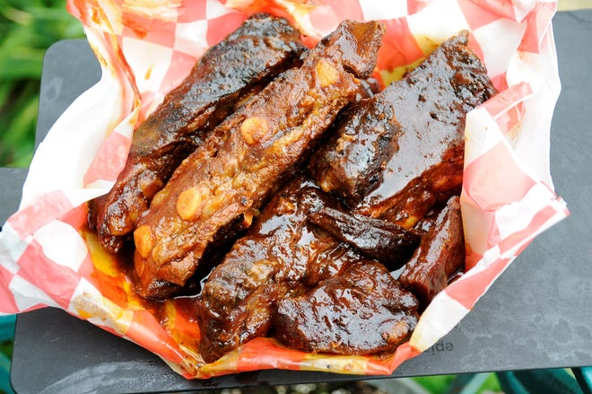 Smoked and barbecued rib tips from the Random Fill-Ups truck in Evansville.