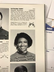 A photo from a West Point yearbook shows Kathleen Makupson, then Kathleen Terry, as a cadet at West Point. She was  the first African American female from Mississippi to graduate from West Point.
