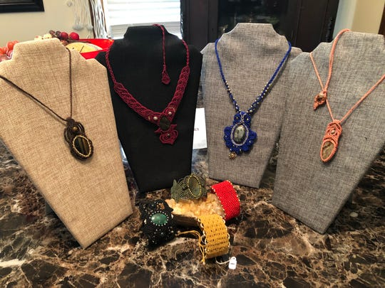 Kathleen Makupson taught herself to make micro macrame necklaces and earned membership in the prestigious Craftsmen's Guild of Mississippi.
