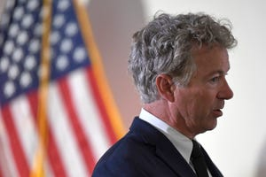 Sen. Rand Paul, R-Ky., walks past reporters as he arrives for the weekly Republican policy luncheon on Capitol Hill in Washington, Tuesday, June 9, 2020. (AP Photo/Susan Walsh)