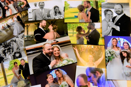 Photos from Stacey and Josh Boggs' wedding day have helped him keep her memory alive.