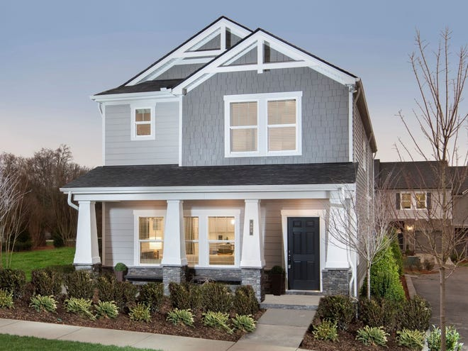 Taylor Landing will have 95 single-family homes. Rear-entry garages give the homes a traditional look.