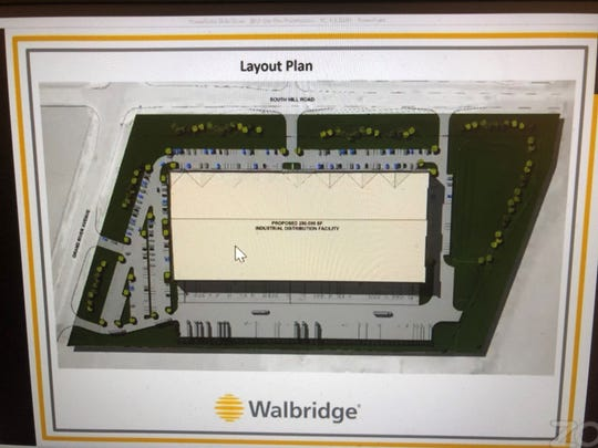 The Walbridge industrial building layout plan was explained by John Ackerman during a Lyon Township Planning Commission virtual meeting June 8, 2020. A site plan for the 280,000-square-foot building was approved.