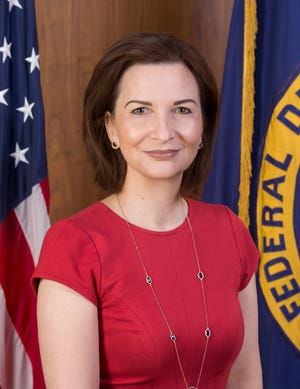 Jelena McWilliams, chairman of the FDIC, doesn't see banks as facing serious recession problems yet.