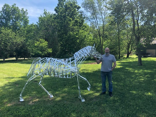 "Sculptures created by Craig Schwartz have caught the eye of residents in Mercersburg. But, the self-described ""semi-retired and full-time artist"" says he never intended his art to get this big."