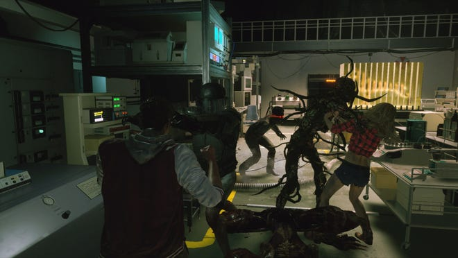 A screenshot from the Resident Evil Resistance game.