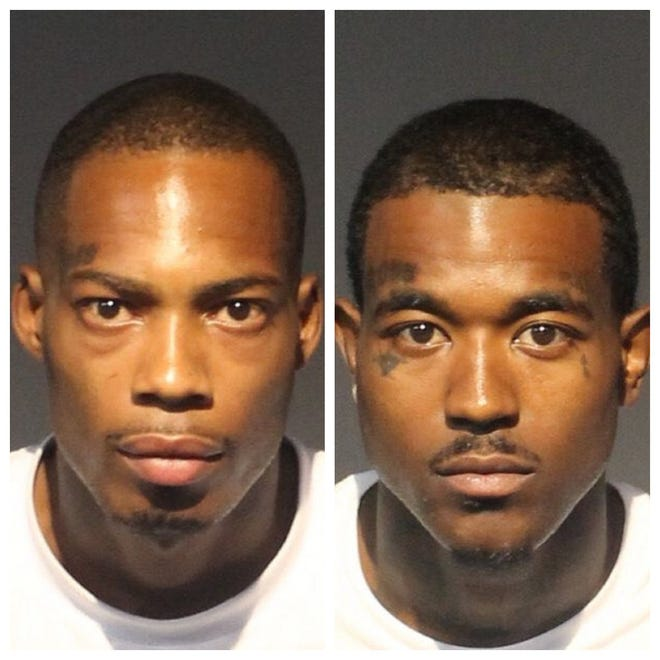 Elton Castine, 29, (left) and Shakwuan Mahan, 26, were both booked on June 9, 2020, into the Washoe County jail on sex trafficking and drug-related charges.