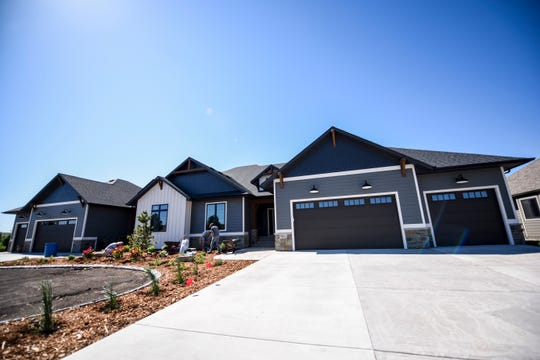 A twin home built by Rallis Construction is seen on Thursday, June 11, 2020 at 7601 E. Donnelly Dr. in Sioux Falls.