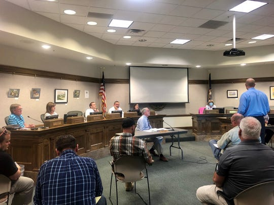 The Cedar City Council discusses the fiscal year budget for 2020-2021 at their meeting June 10, 2020.