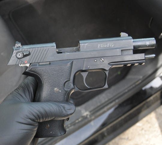 A stolen firearm was also found during a search of a vehicle as part of a multi-county drug investigation.