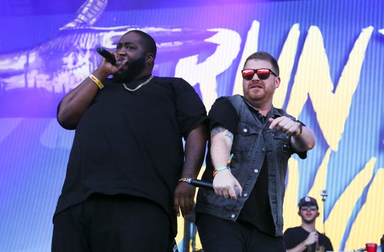 """Killer Mike, left, and El-P of Run the Jewels. The hip-hop duo released their album """"RTJ4"""" earlier this month."""