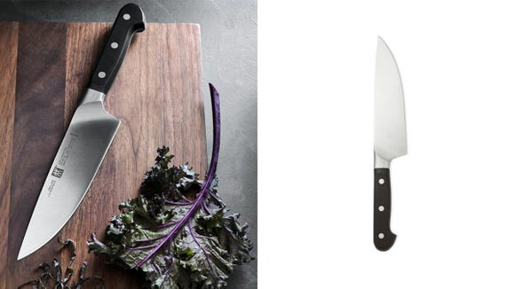 This super sharp knife will make cutting veggies and slicing meat a breeze.