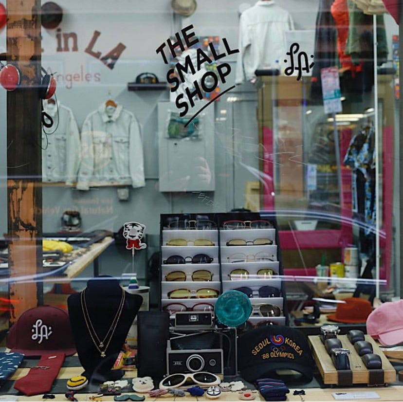 The front window of The Small Shop LA before the protests.