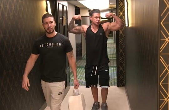 "Vinny and DJ Pauly D on MTV's ""Double Shot at Love"" on June 11, 2020."