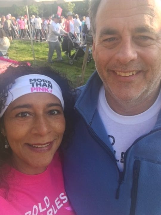 Haddon Heights resident Lorelei McGlade and husband Brian McGlade are shown at a recent Susan G. Komen breast cancer walk in Philadelphia. She's raised more than $175K for Komen Philadelphia over the years.