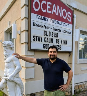 Bill Kalavrouziotis, owner of Oceanos restaurant in West Berlin is the creator of the DINERjet.com, a new online ordering service  for South Jersey restaurants.