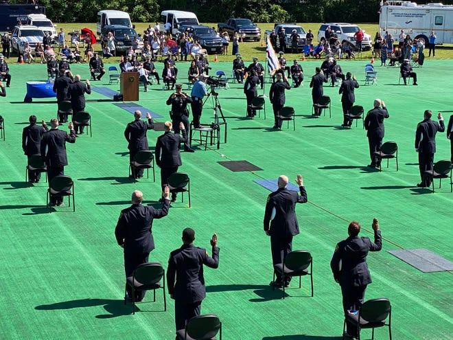 The Cincinnati Police Department graduated its 110th police recruit class on June 12, 2020.