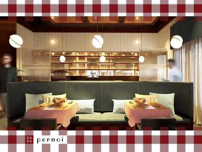 The fine-dining white tablecloth restaurant Pernoi, which debuted in Birmingham in the fall of 2019, is rebranding as a more casual, home-style Italian restaurant Casa Pernoi.