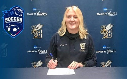 Former C.M. Russell and MSU Billings soccer standout Courteney Shovlin has signed a contract with the Soccer Management Institute, and will attend graduate school and play soccer in Rome, Italy this fall.