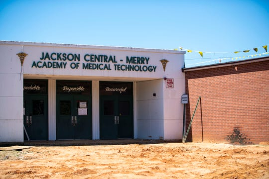 Construction continues at the new building of Jackson Central-Merry Academy, Friday, June 12, 2020 in Jackson, Tenn.,