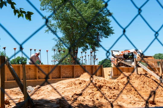 Construction continues at the new building of Madison Academic, Friday, June 12, 2020 in Jackson, Tenn.,
