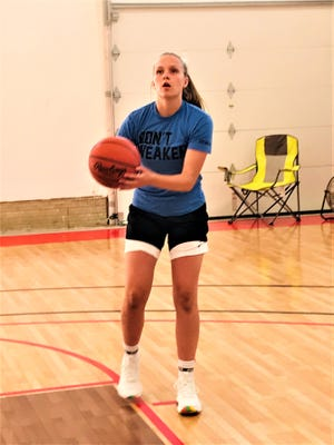 Liberty Union's Abbie Riddle, who just completed an outstanding freshman season for the Lions, is being heavily recruited by Division I schools.