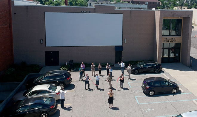 The Renaissance Theatre is showing movies on a giant outdoor screen featured in its new Ren Backlot venue, a creative way to accommodate current guidelines for mass gatherings during the coronavirus pandemic.