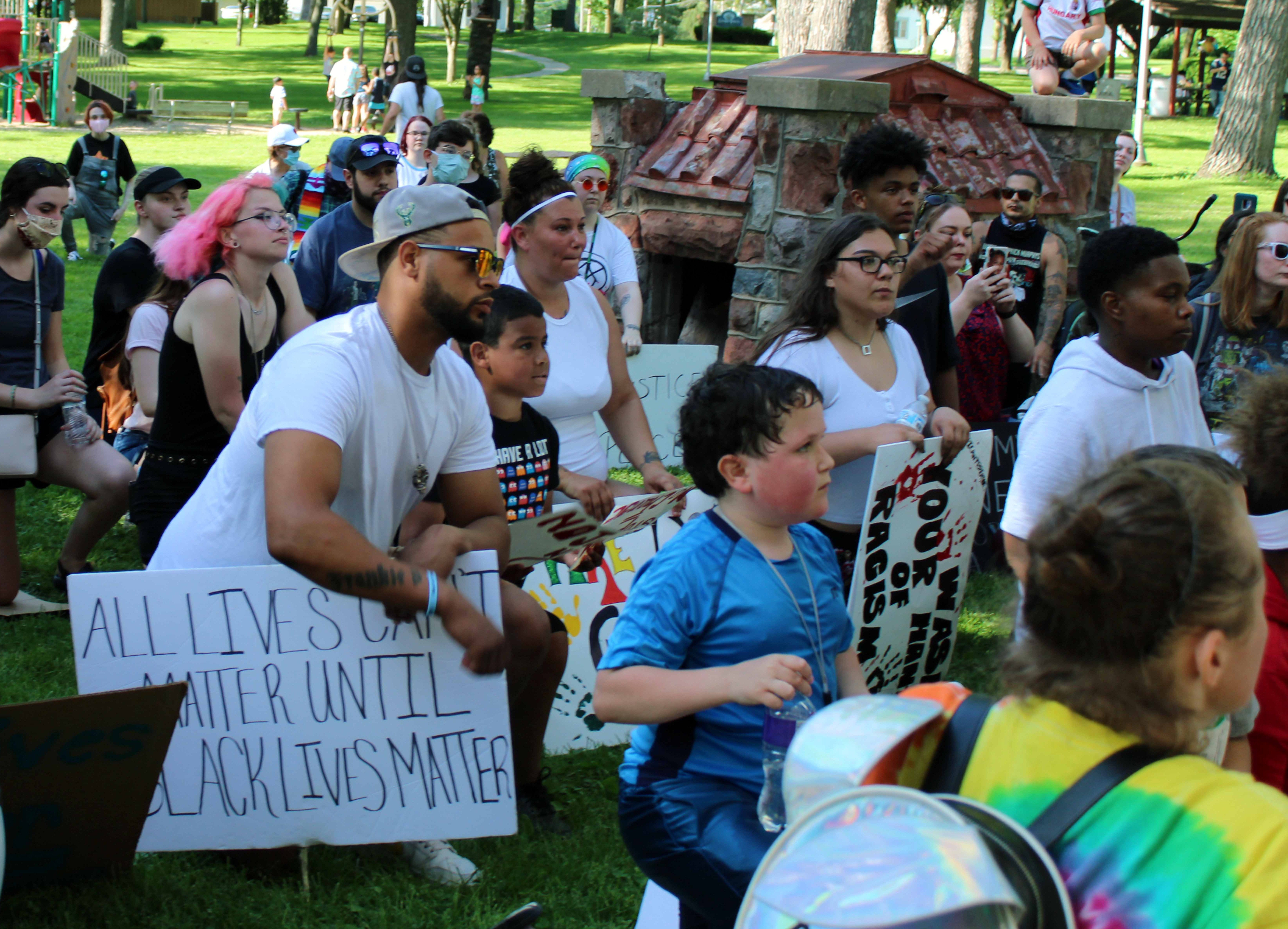 This Black Lives Matter march ended at the Swan City Park springhouse in Beaver Dam, where speeches were made about the movement. Organizers plan on continuing the protests in support of greater understanding about the issues facing the Black community.