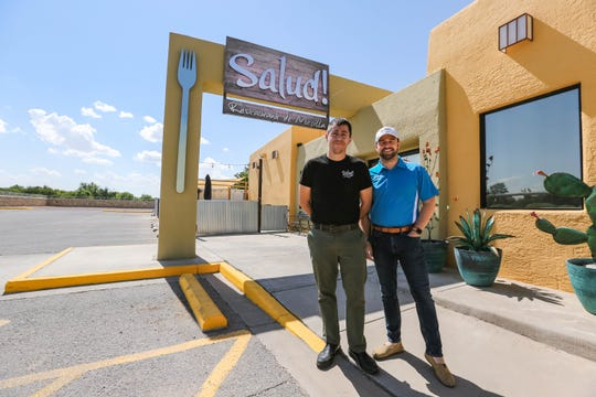 Christopher Schaljo and Russell Hernandez are pictured at their restaurant Salud! de Mesilla in Las Cruces on Friday, June 12, 2020.