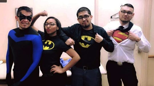 Efren Gutierrez, dressed in a blue and black superhero outfit, was described by friend Mark Monsivaiz as someone who always loved to dress up in cosplay and to express himself. He never worried about what other people thought of him, Monsivaiz said.