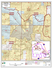 A map of southern New Mexico shows the location and size of the fire in the Sierra de las Uvas mountain range June 9, 2020.
