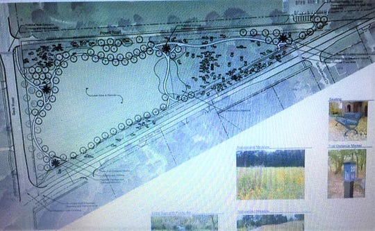 The Plymouth Township Board of Trustees were shown diagrams of how the land could be converted into a park.