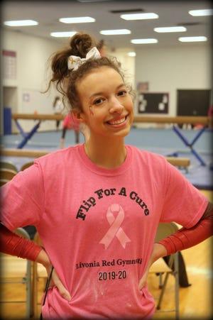 Jessica Huddleston was a captain on this year's Livonia Red gymnastics team.