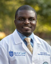 Samkon Gado completed his otolaryngology residency at Saint Louis University and spent six years in the NFL.