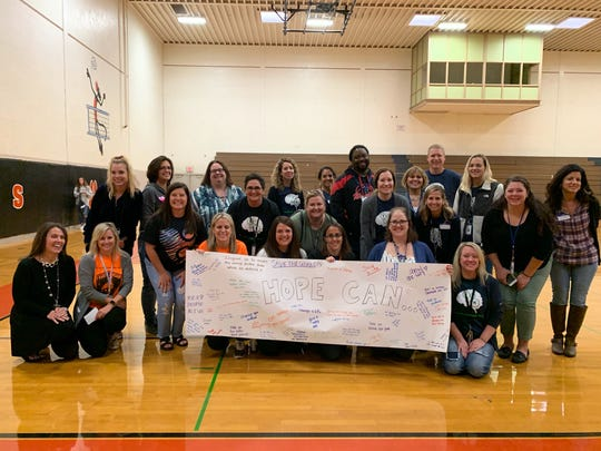 School advisers from throughout York County pose at the Fall 2019 Youth Mental Health Conference.