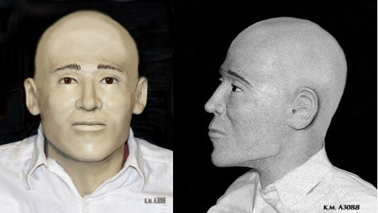 Yavapai County sheriff's officials seek the public's help to identify human remains found in March 2015 near Juniper Woods Ranch between Ashfork and Drake. A possible sketch of the victim was released June 12, 2020.