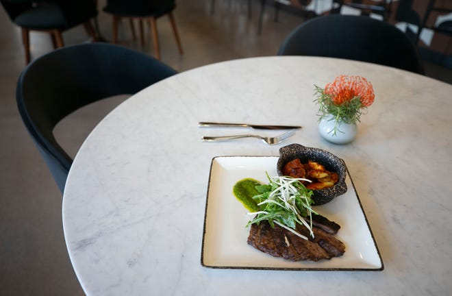 Skirt steak chimichurri at the new Alter Ego restaurant at Canopy by Hilton Tempe Downtown on June 12, 2020.