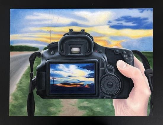 """""""My Window to the Sky"""" by Rhesa Key, a Wall High School student, won the the 2020 Congressional Art Competition from the 11th District of Texas."""