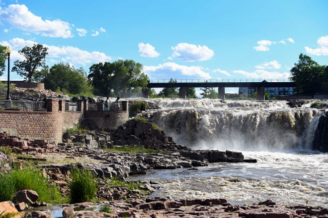 Sun shines on Thursday, June 11, at Falls Park in Sioux Falls.