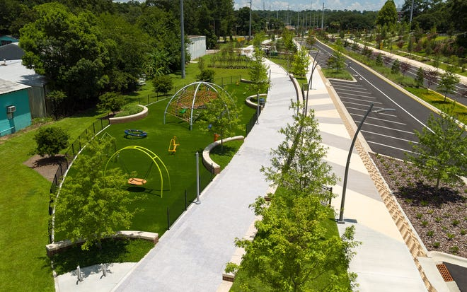 The Capital Cascades Trail at the FAMU way corridor - an example of an urban trail and greenway.