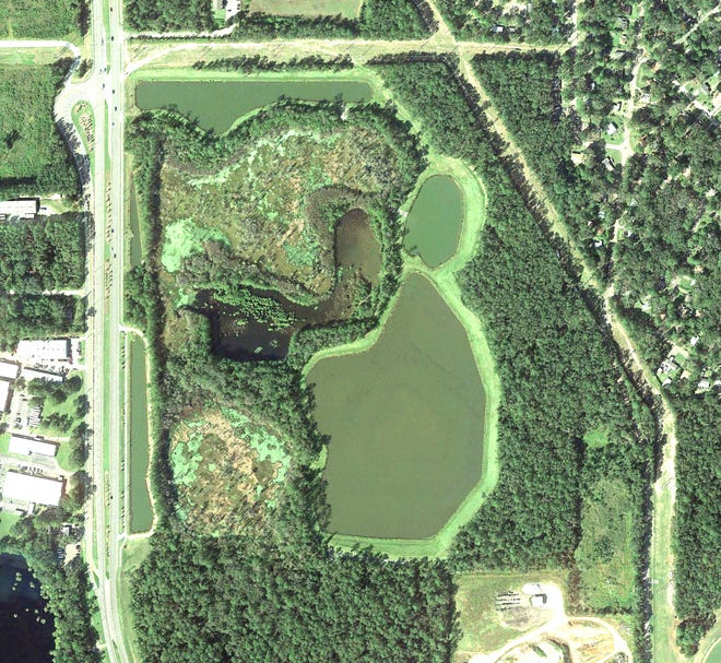 Aerial view of the Debbie Lightsey Nature Park to be included in the Capital Circle Southwest Greenway and which will provide access to a natural wetland. ecosystem.