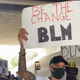 Former Simi Valley High basketball star Lorne Jackson, right, brought more than 50 friends to a march for Black Lives Matter in Simi Valley on June 7.