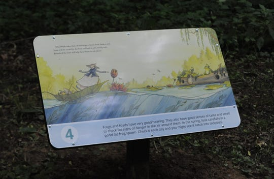 A new Storybook Trail is open at Dillon State Park, and this is one of 14 panels from the story of Miss Maple's Seeds.