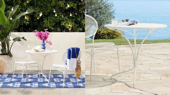 This dainty outdoor table is perfect for cosplaying as a European tourist.