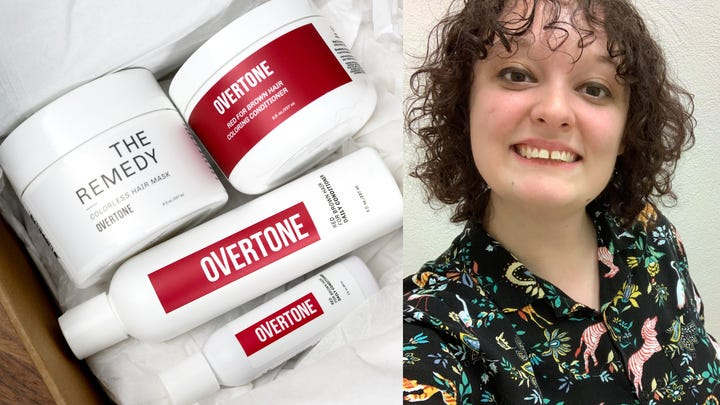 Overtone Red for Brown Hair