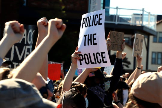 Black Lives Matter rally in Pittsburgh on June 7, 2020.